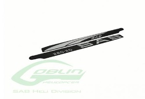 BLACK LINE CARBON FIBER MAIN BLADES 380MM